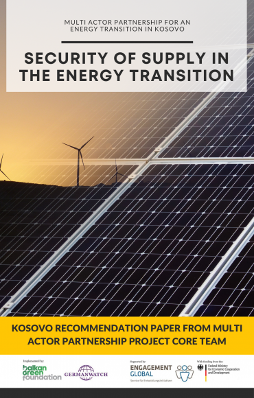 BGF and Germanwatch publish recommendations on the Energy Transition process in Kosovo