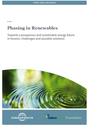 PHASING IN RENEWABLES - TOWARDS A PROSPEROUS AND SUSTAINABLE ENERGY FUTURE IN KOSOVO: CHALLENGES AND POSSIBLE SOLUTIONS