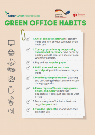 GREEN OFFICE HABITS