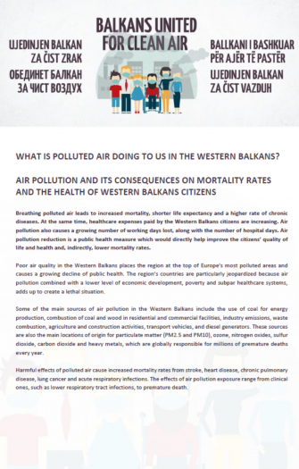 Air Pollution and its Consequences on Mortality Rates and the Health of Western Balkans Citizens