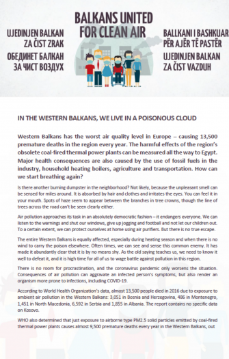 In the Western Balkans, We Live in a Poisonous Cloud